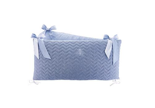 Théophile & Patachou Blue Jeans Bedbeschermer 60cm - Gewatteerd (60x60x60cm) H:32cm