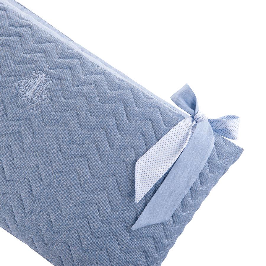 Blue Jeans Bedbeschermer 70cm - Gewatteerd (70x70x70cm) H:32cm-2