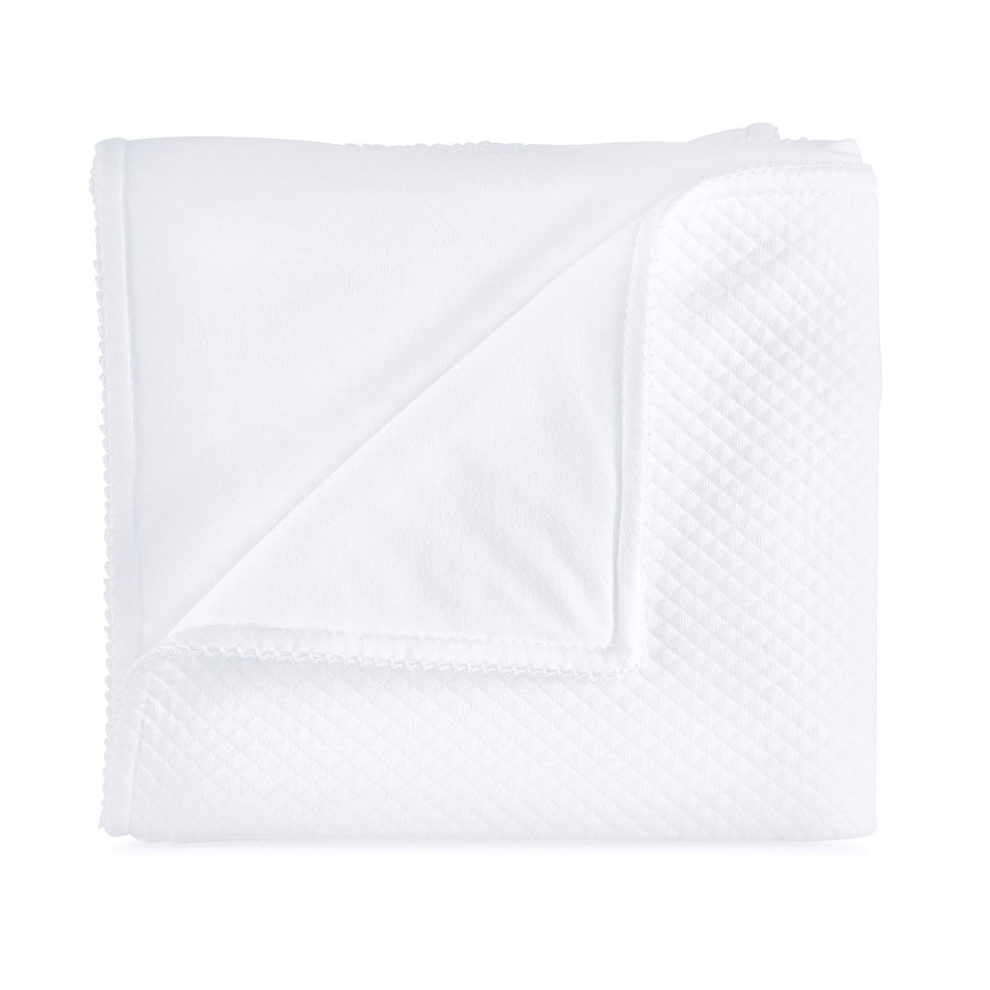 Royal White Deken bed 100x135cm - Gewafeld-1