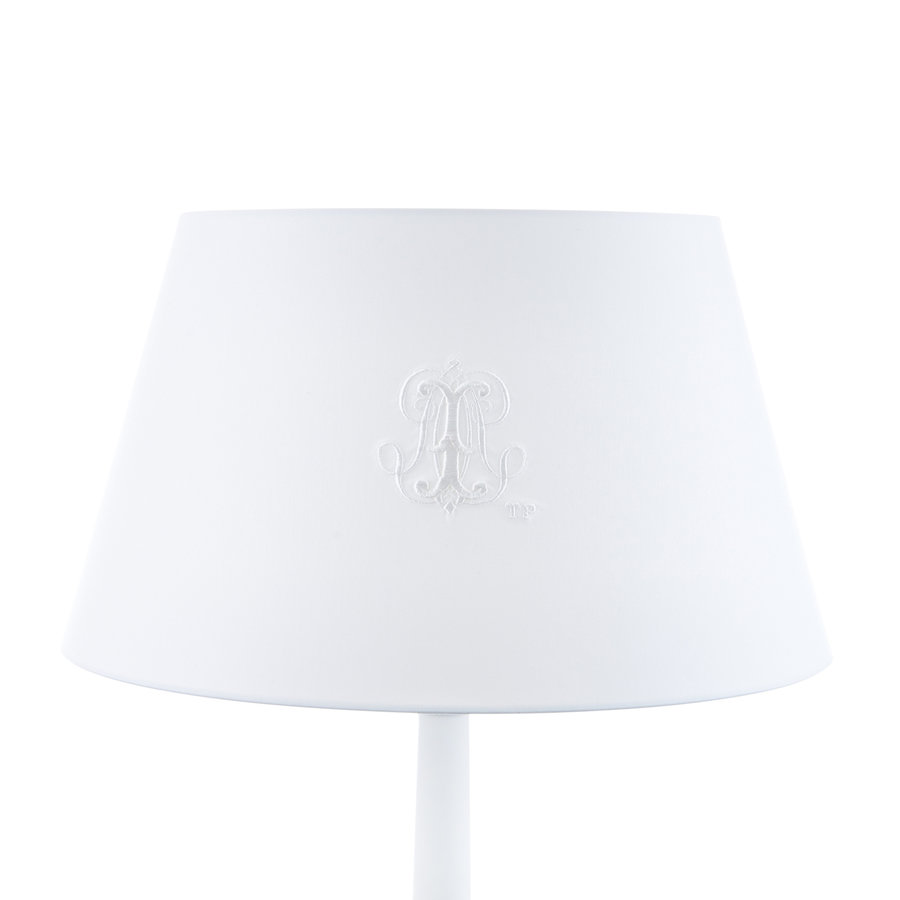 Royal White Grote lampenkap geborduurd-1