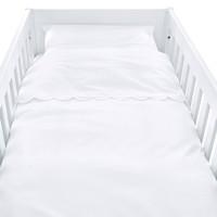 Royal White Donsovertrek bed 100x135cm  + sloop bekken