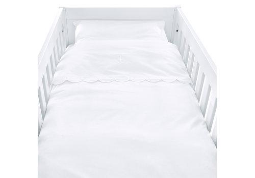 Théophile & Patachou Royal White Donsovertrek bed 100x135cm  + sloop bekken
