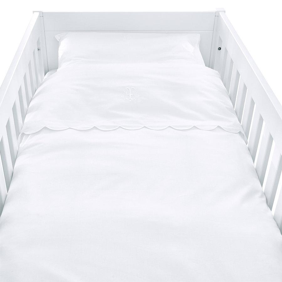 Royal White Donsovertrek bed 100x135cm  + sloop bekken-1
