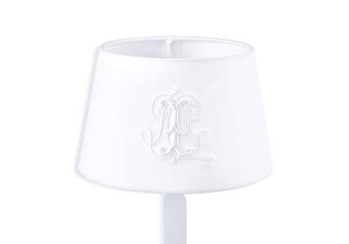 Théophile & Patachou Royal White Kleine lampenkap geborduurd