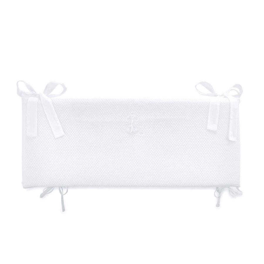 Royal White Bedbeschermer 60cm - Gewafeld (60x60x60cm) H:42cm-1