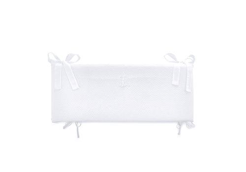 Théophile & Patachou Royal White Bedbeschermer 60cm - Gewafeld (60x60x60cm) H:29cm