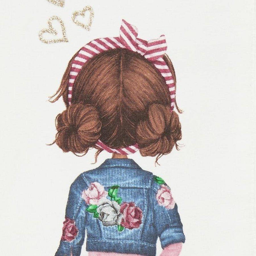 vestje met roze strik-3