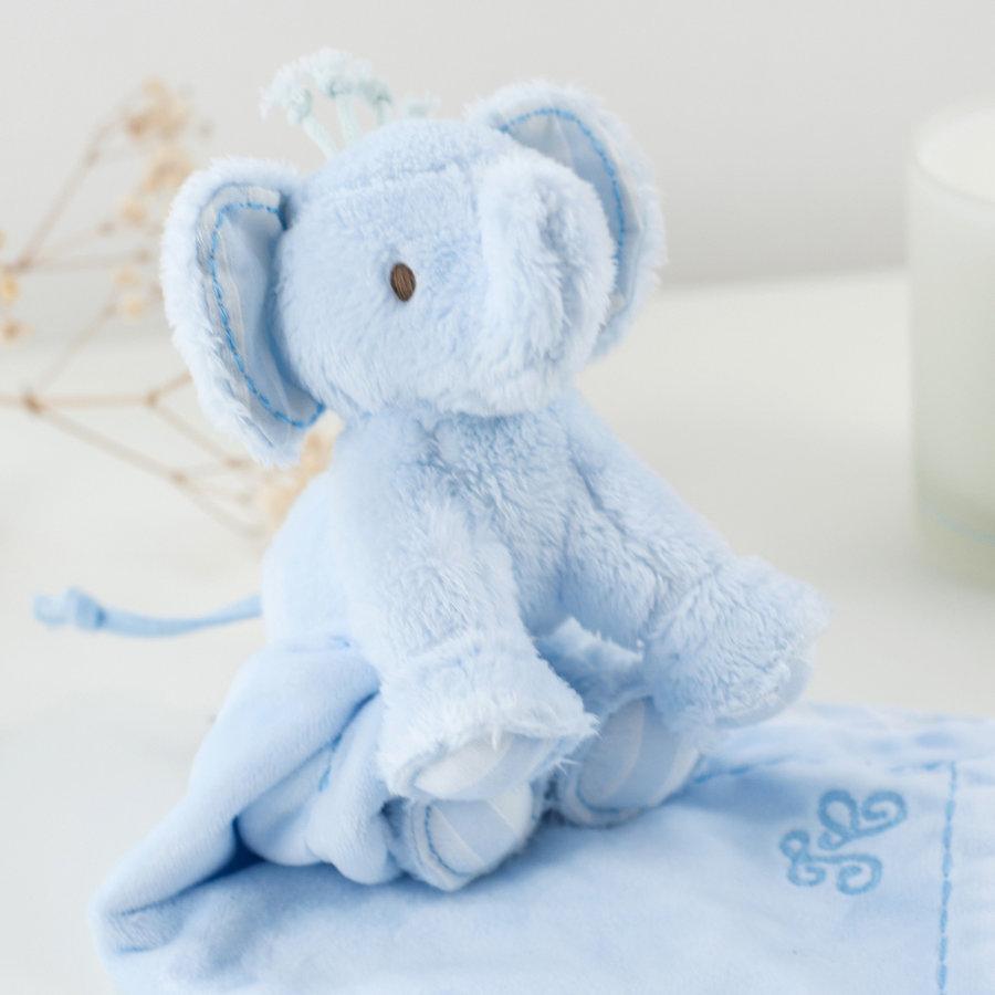 olifant knuffeldoekje - blauw-2