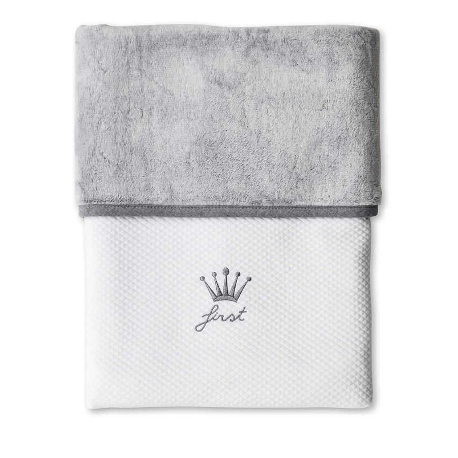 deken van katoen en teddy - Endless Grey-1