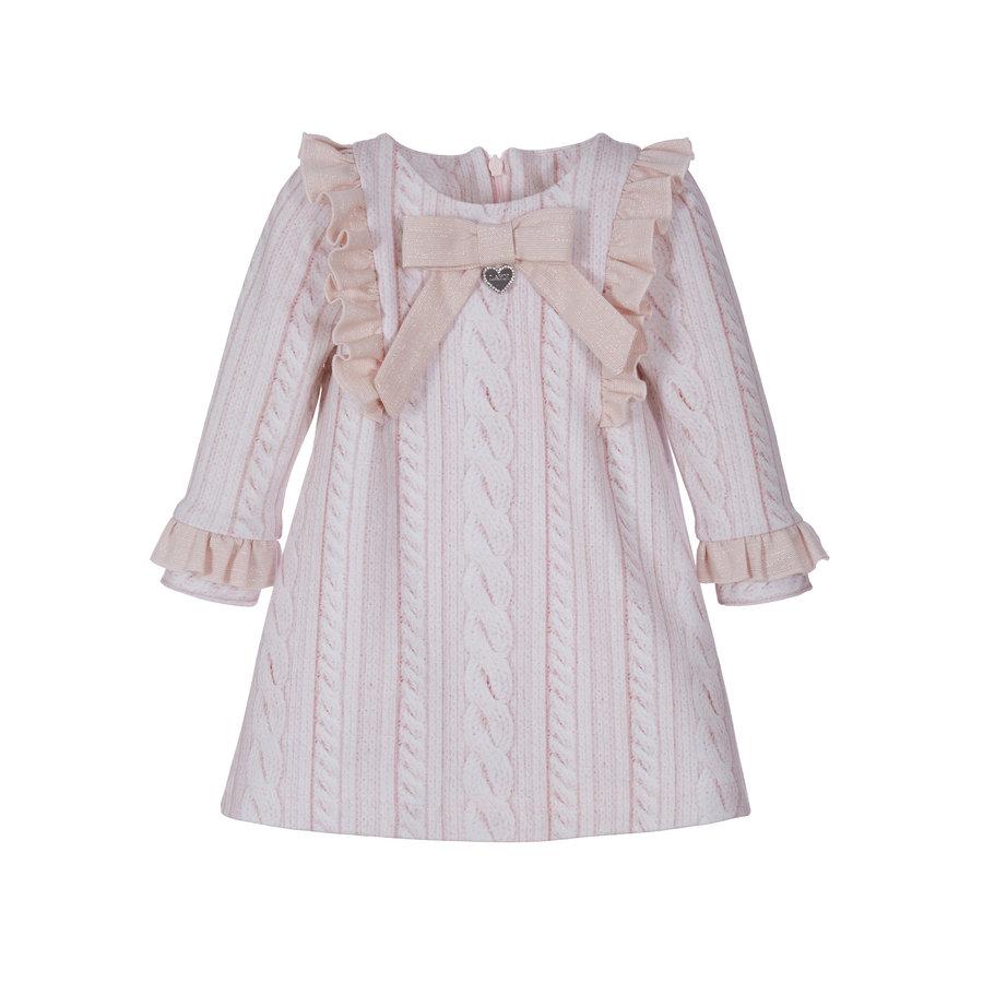 jurk met strik en ruches-1