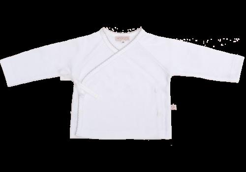 Mats & Merthe vestje overslag wit