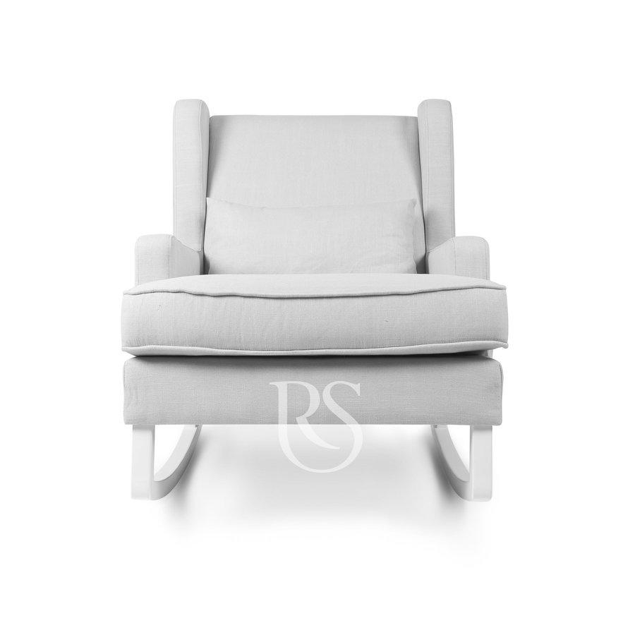 schommelstoel Pearl Rocker - Silver Grey / White-3