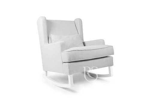 Rocking Seats schommelstoel Pearl Rocker - Silver Grey / White