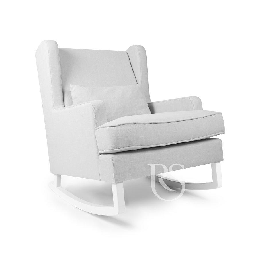 schommelstoel Pearl Rocker - Silver Grey / White-1