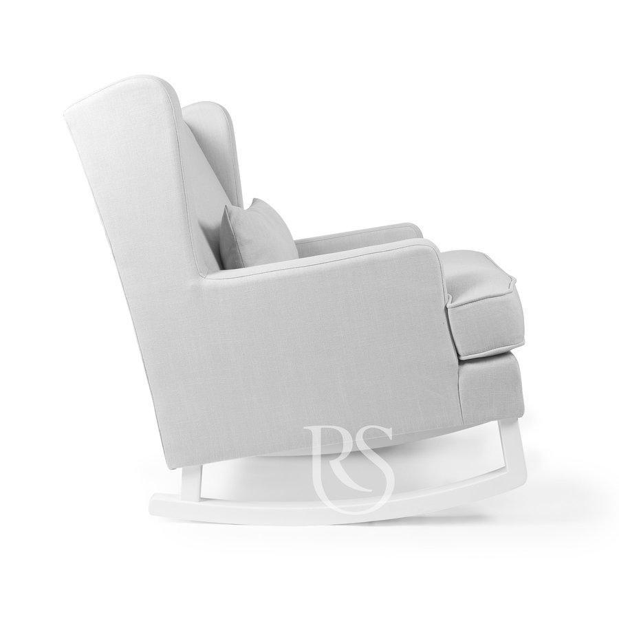 schommelstoel Pearl Rocker - Silver Grey / White-4