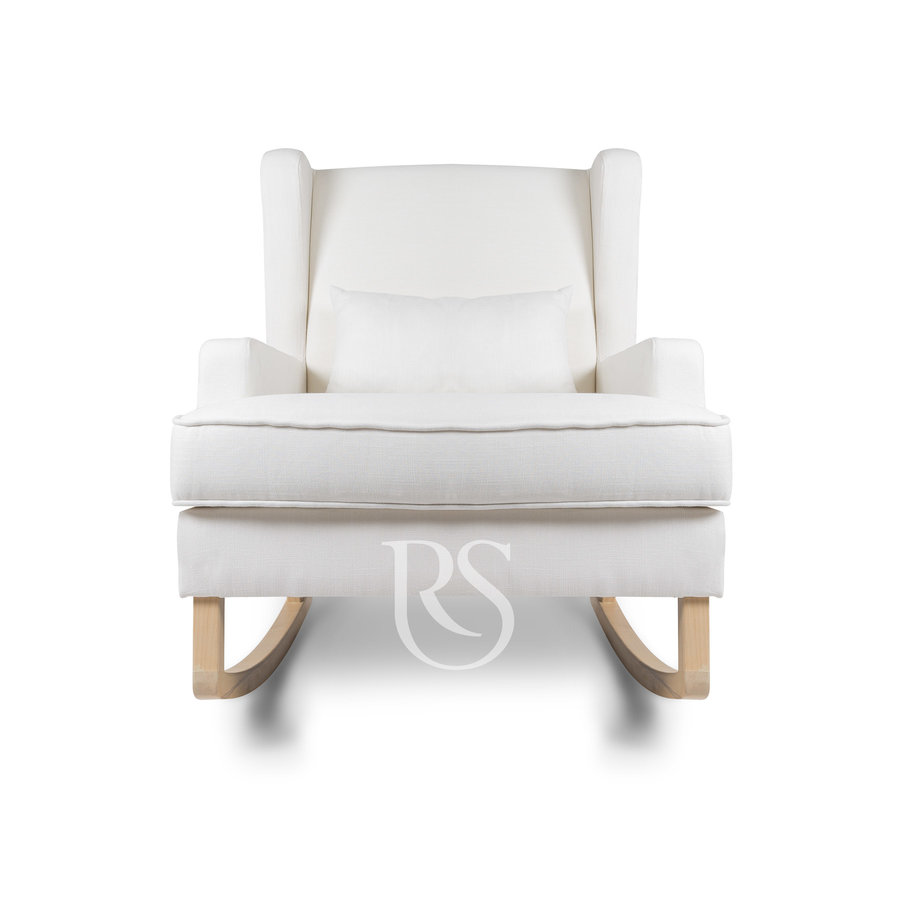 schommelstoel Pearl Rocker - Snow White / Natural-3