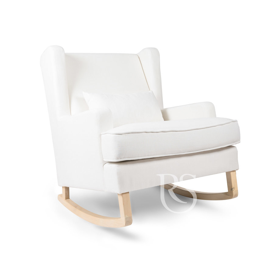 schommelstoel Pearl Rocker - Snow White / Natural-1