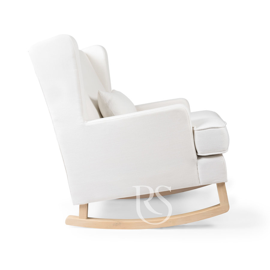 schommelstoel Pearl Rocker - Snow White / Natural-2