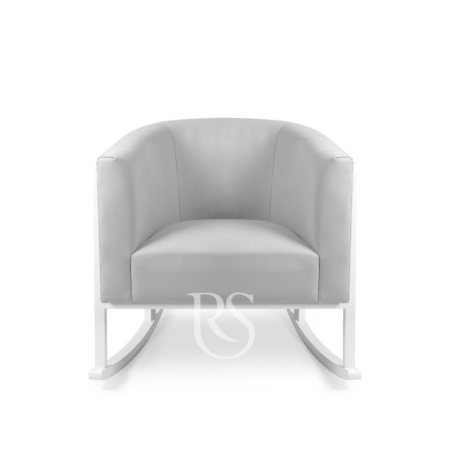 schommelstoel Cruz Rocker - Stone Grey / White-3