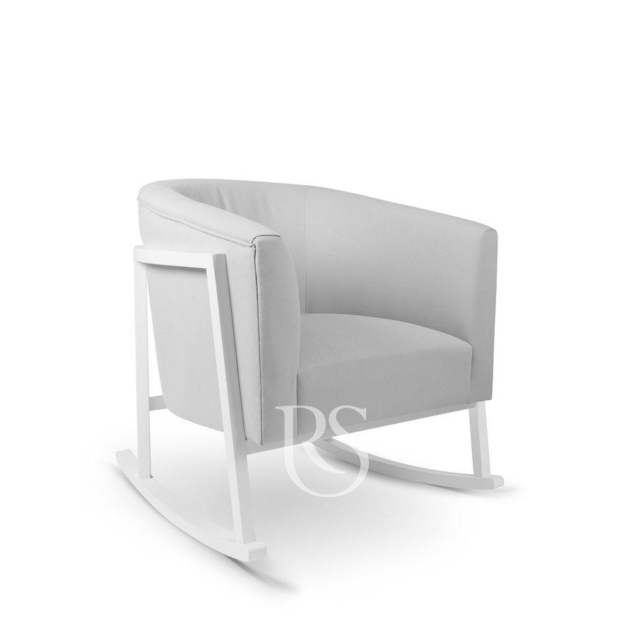 schommelstoel Cruz Rocker - Stone Grey / White-1