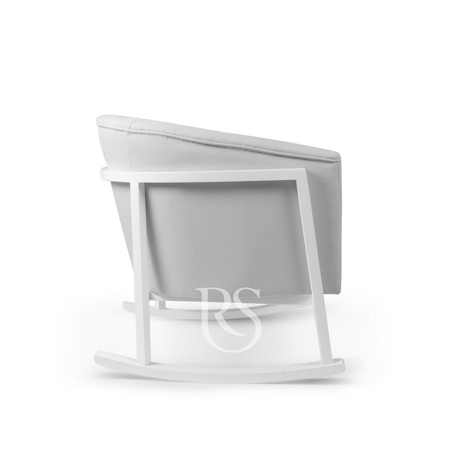 schommelstoel Cruz Rocker - Stone Grey / White-4
