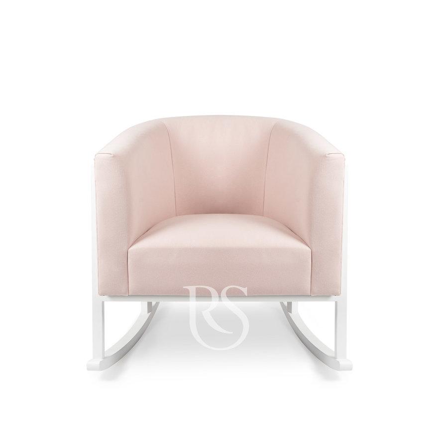 schommelstoel Cruz Rocker - Blush Pink / White-2
