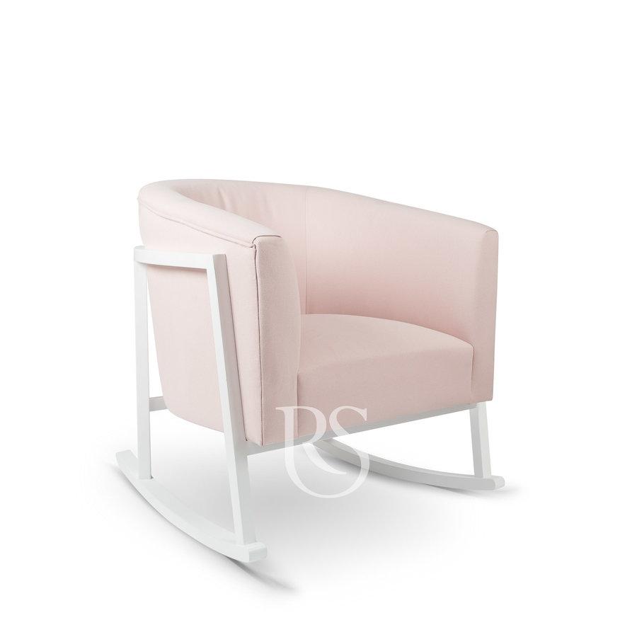 schommelstoel Cruz Rocker - Blush Pink / White-1