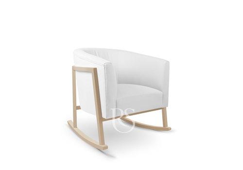 Rocking Seats schommelstoel Cruz Rocker - Pure White / Natural