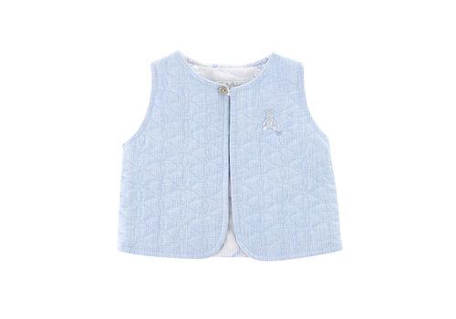 Théophile & Patachou Gewatteerde vest zonder mouwen -  Lichtblauw