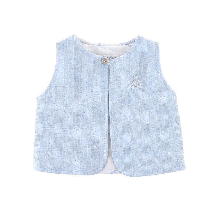 Gewatteerde vest zonder mouwen -  Lichtblauw-1