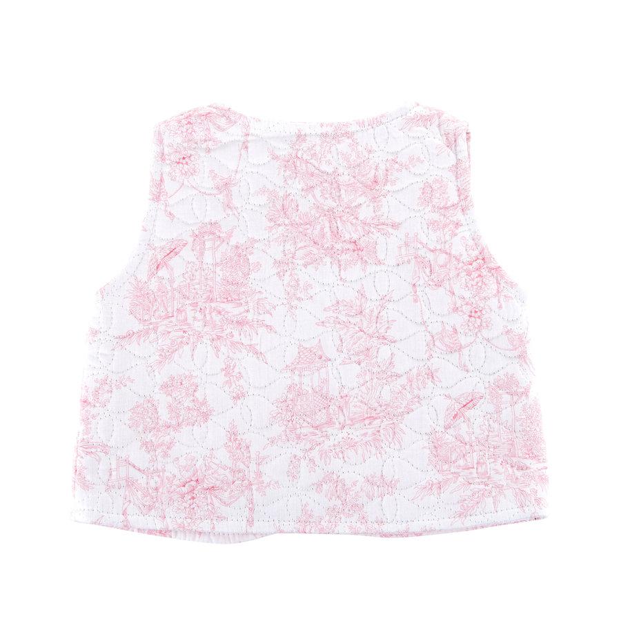 Gewatteerde vest zonder mouwen -  Roze-2