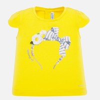 thumb-t-shirt met diadeem - geel-1