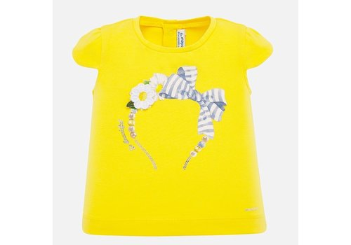 Mayoral t-shirt met diadeem - geel