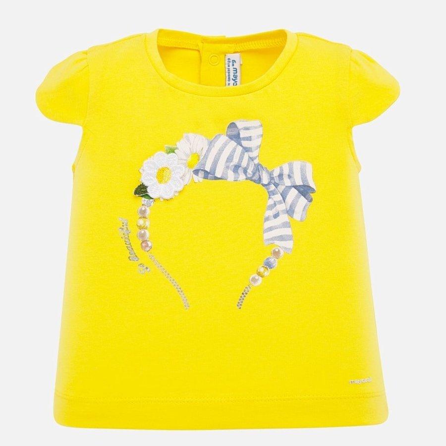 t-shirt met diadeem - geel-1