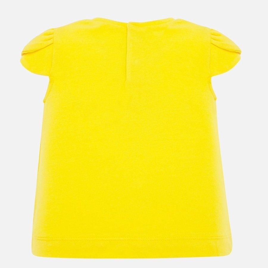 t-shirt met diadeem - geel-2