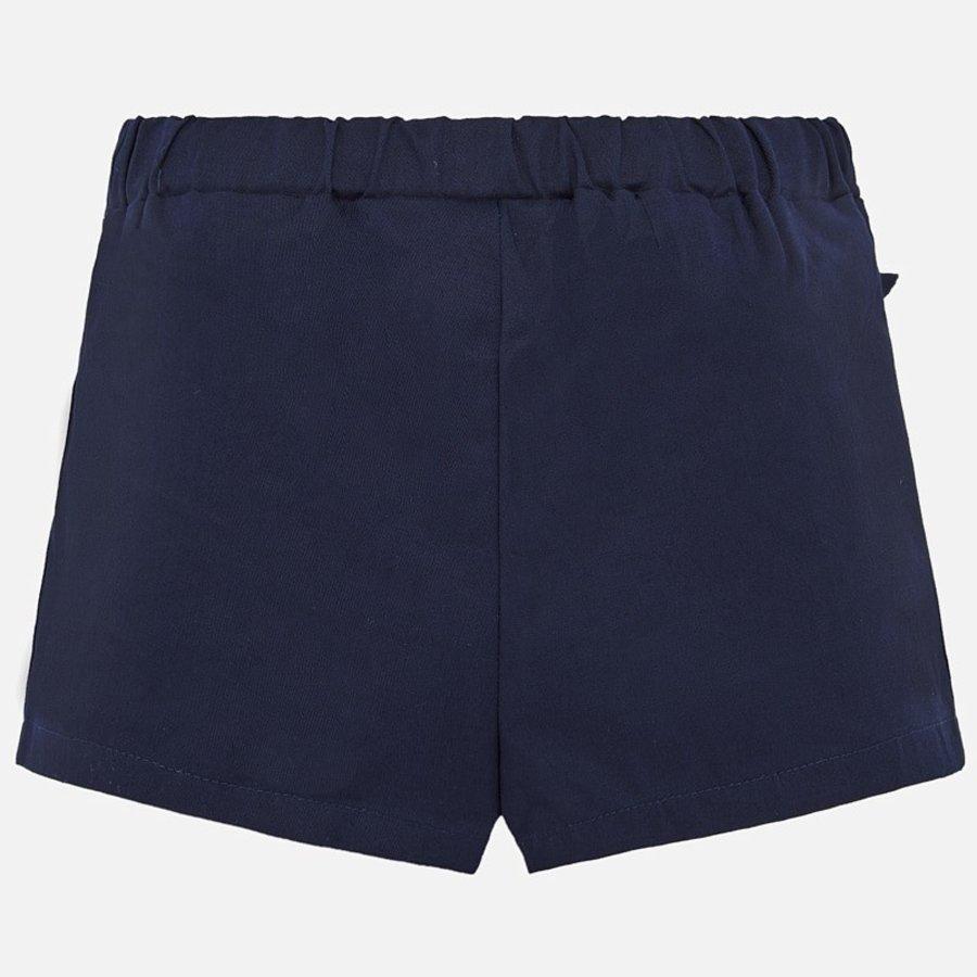 korte broek met strik - blauw-2