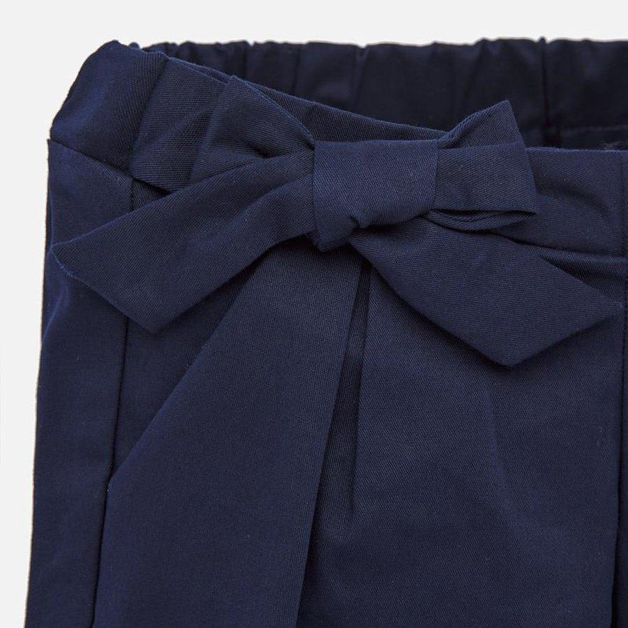 korte broek met strik - blauw-3