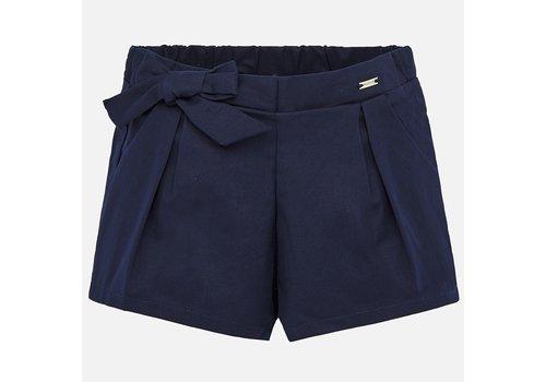 Mayoral korte broek met strik - blauw