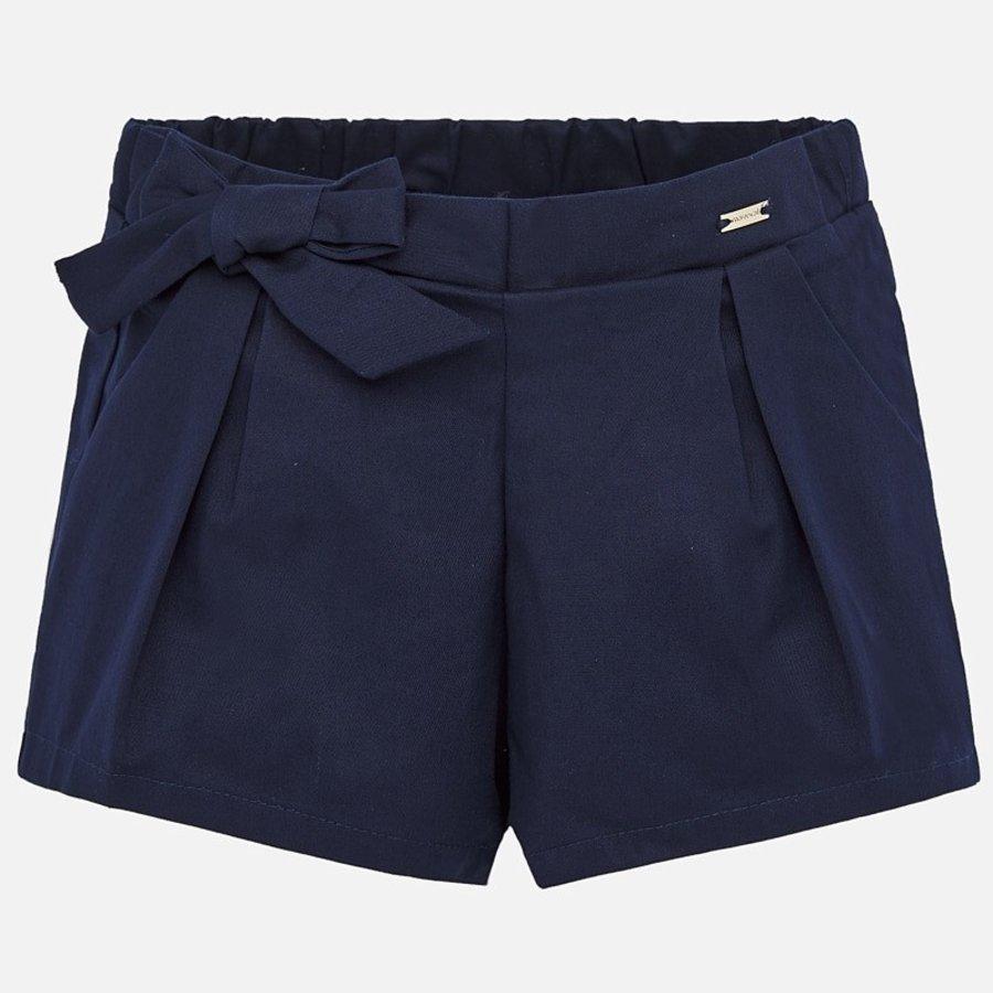 korte broek met strik - blauw-1