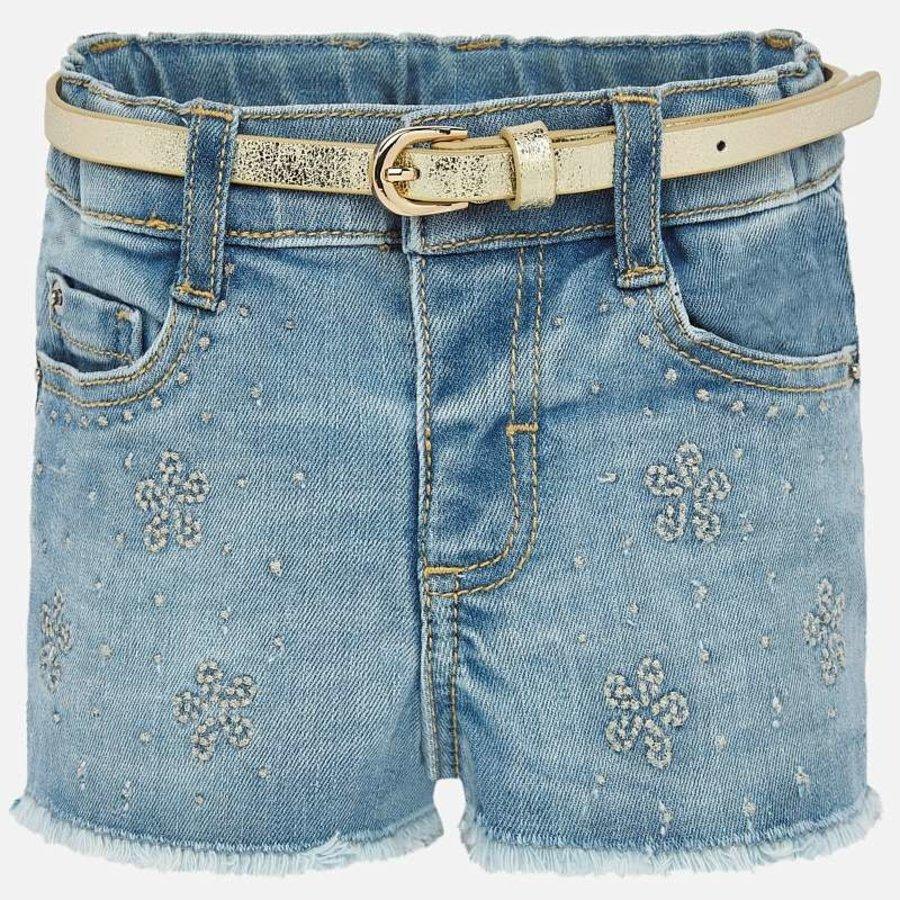 korte broek met riem - jeans-1