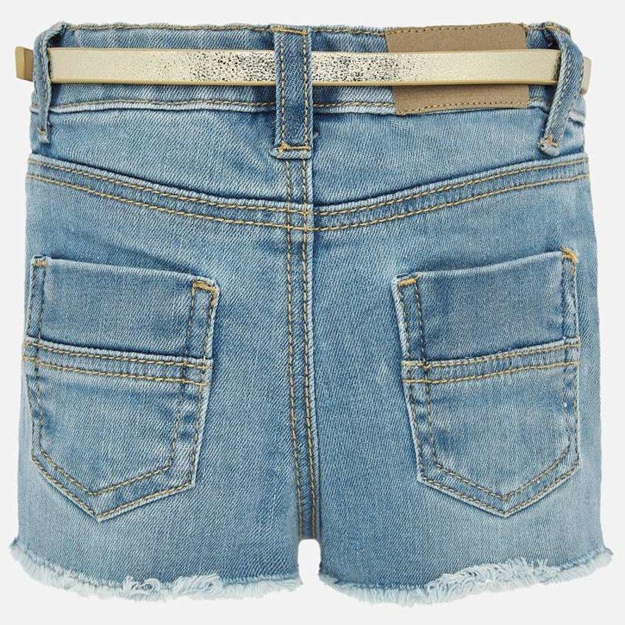 korte broek met riem - jeans-3