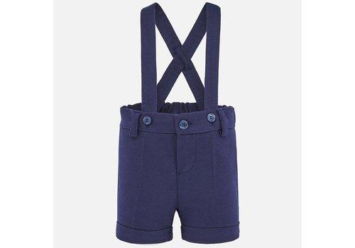 Mayoral korte broek met bretels - blauw