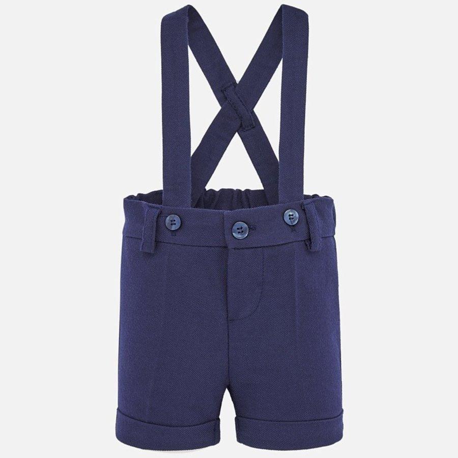 korte broek met bretels - blauw-1