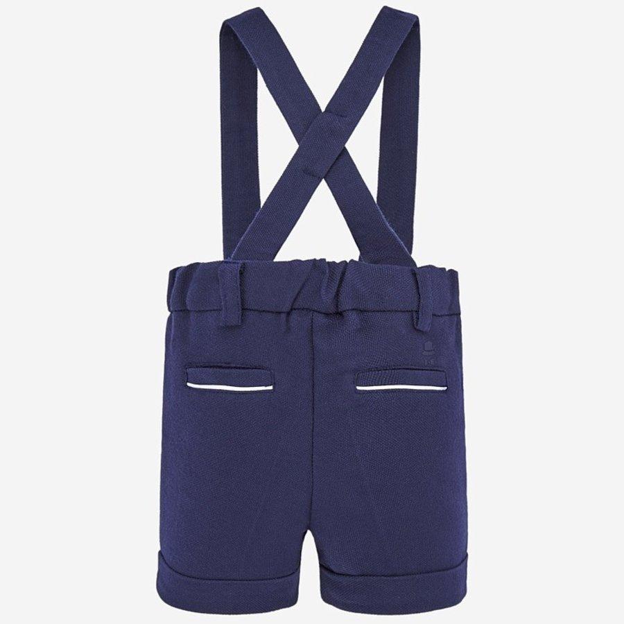 korte broek met bretels - blauw-2
