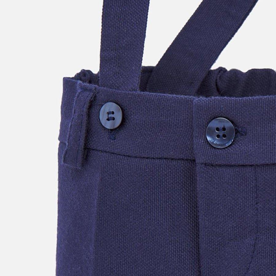 korte broek met bretels - blauw-3