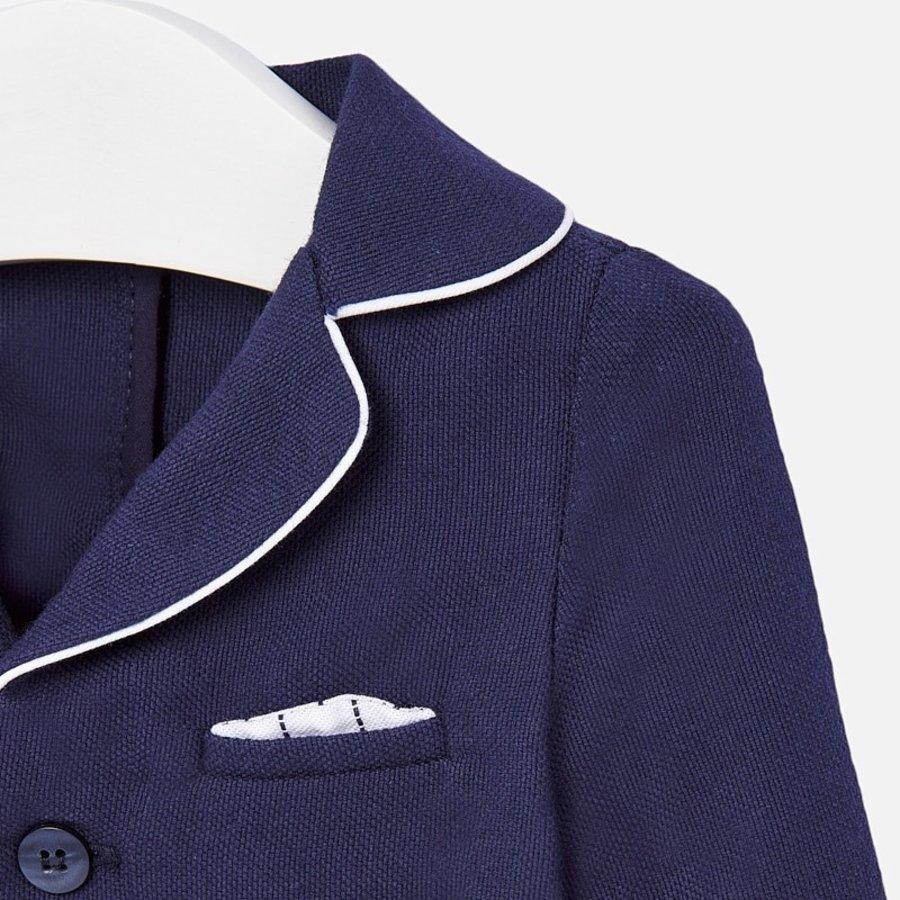 colbert stretch met pochet - blauw-2