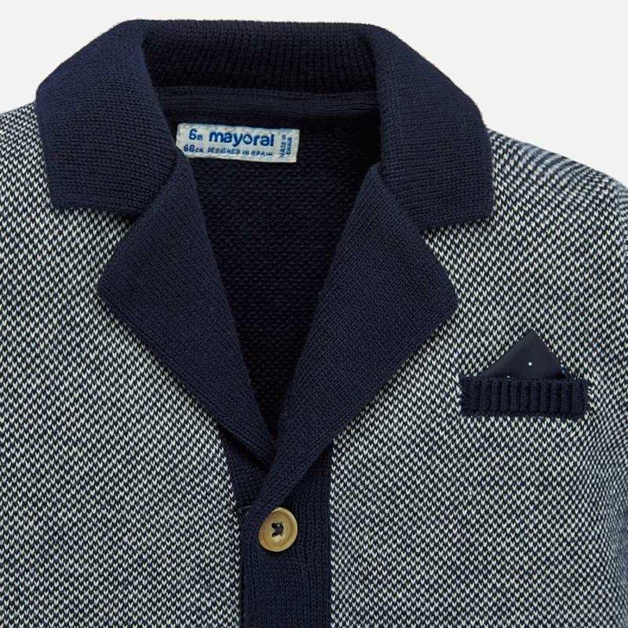 vest met pochet - blauw-3