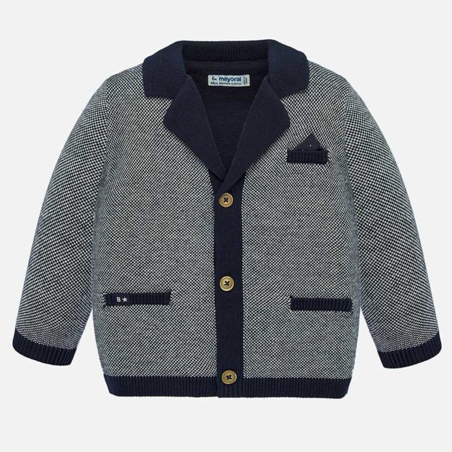 vest met pochet - blauw-1