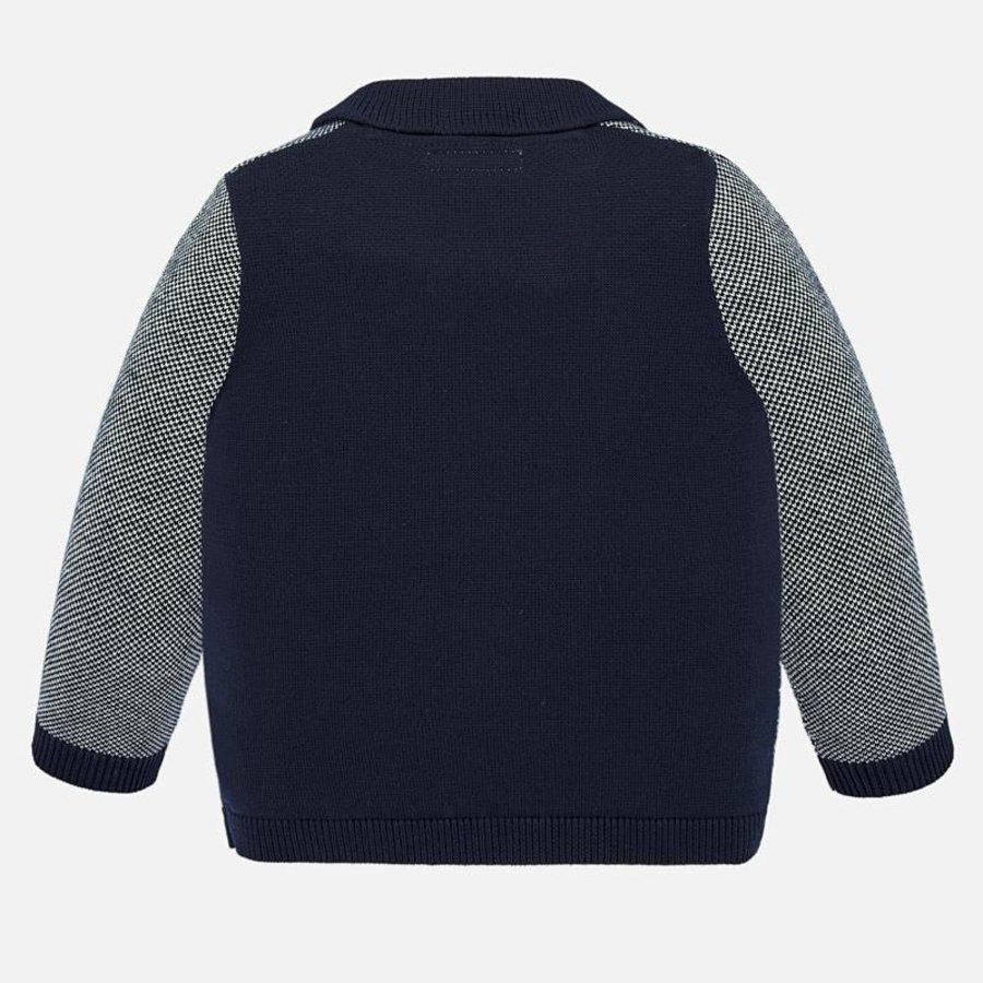 vest met pochet - blauw-2