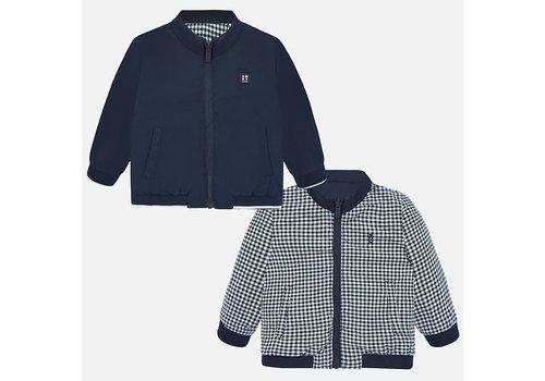 Mayoral jas met steekzakken omkeerbaar - blauw